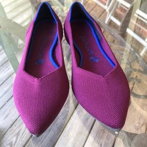 Rothys purple orchid flats